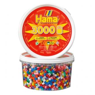 ハマビーズ 丸ボックス 基本色(3000ピース)