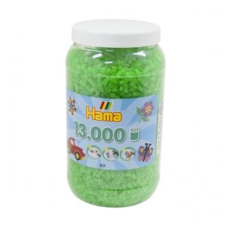 ハマビーズ ボトル 13000pcs ケイコウクリアグリーン
