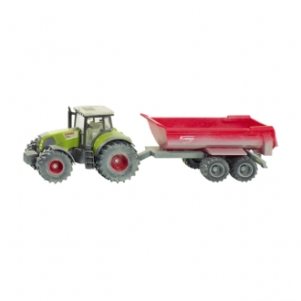 Tractor with tipping trailer