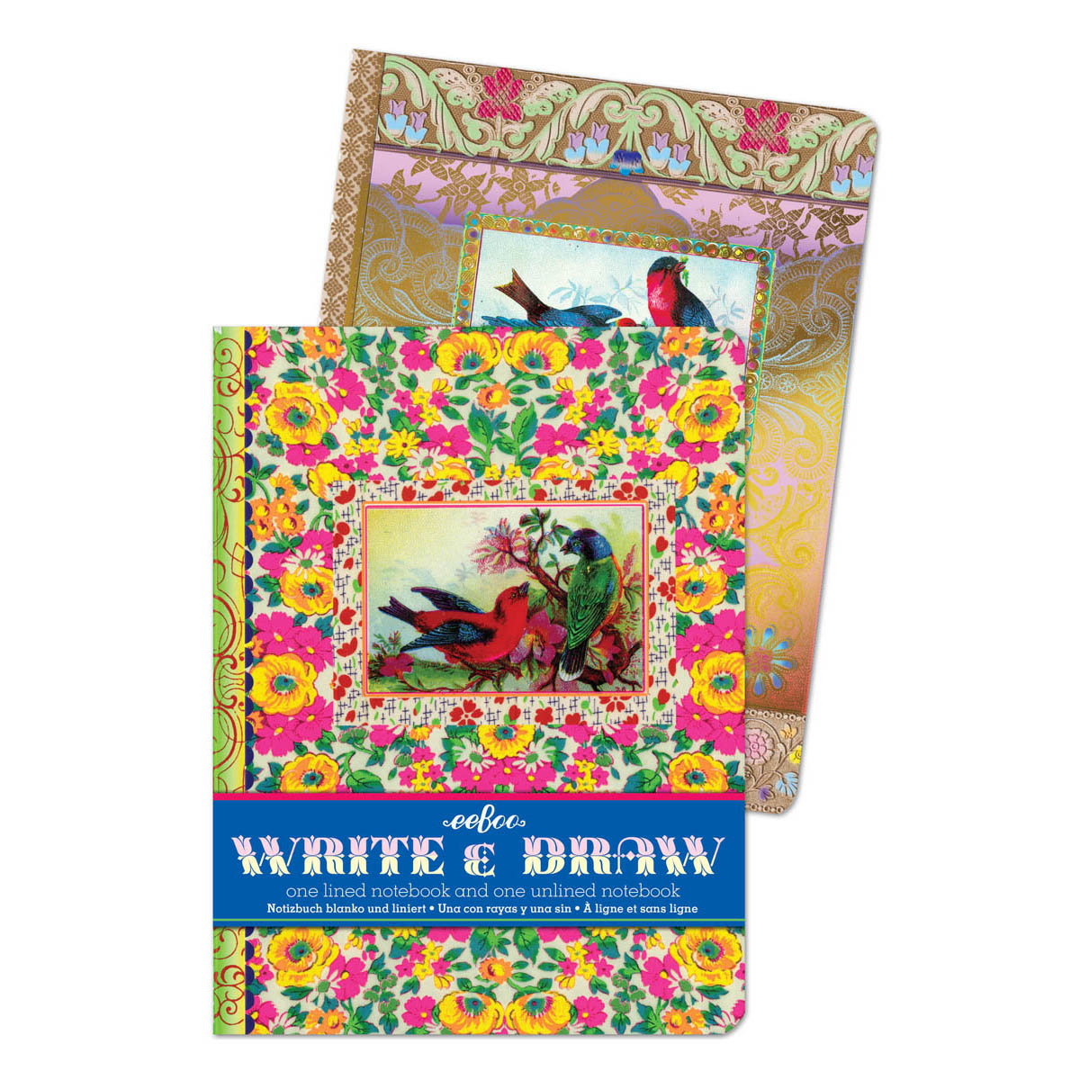 Write&Drawノート(2冊セット)ある森の動物たち
