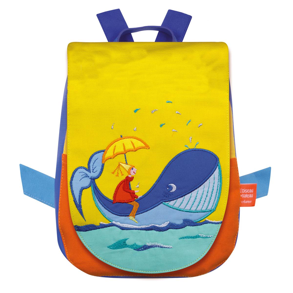 ベビーリュック・クジラに乗った少年
