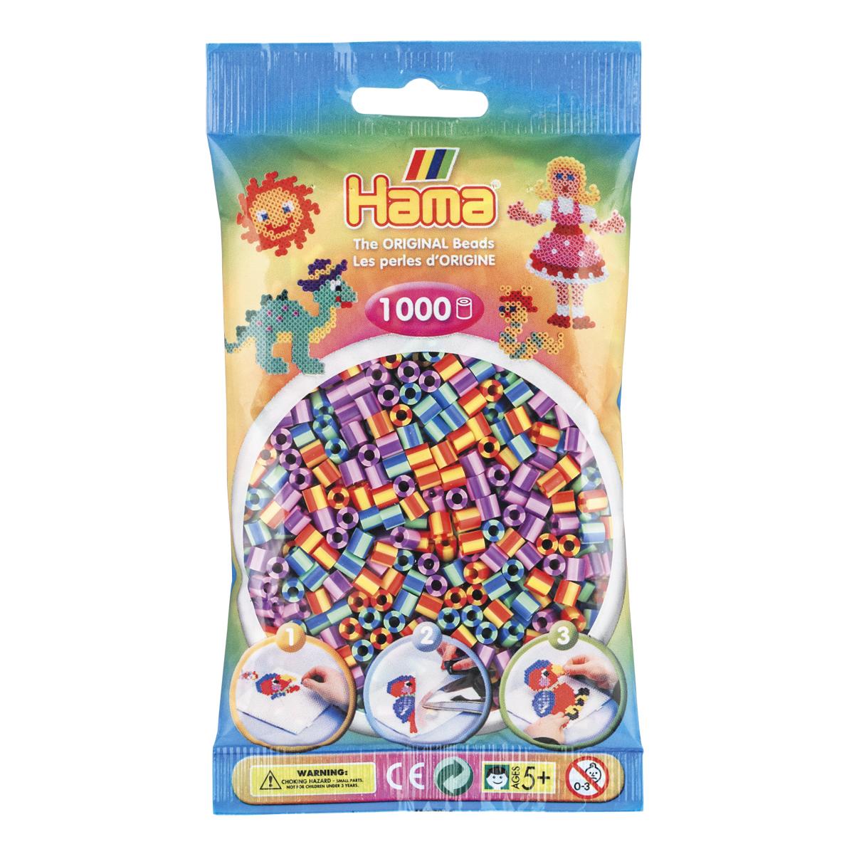 ハマビーズ ストライプ キャンディーカラー
