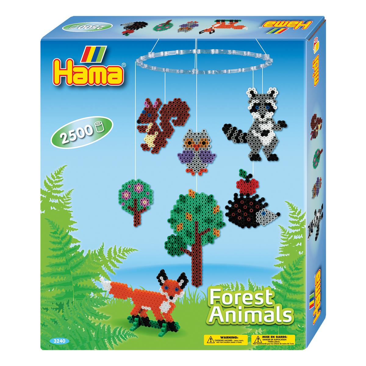 ハマビーズ 森の動物モビール