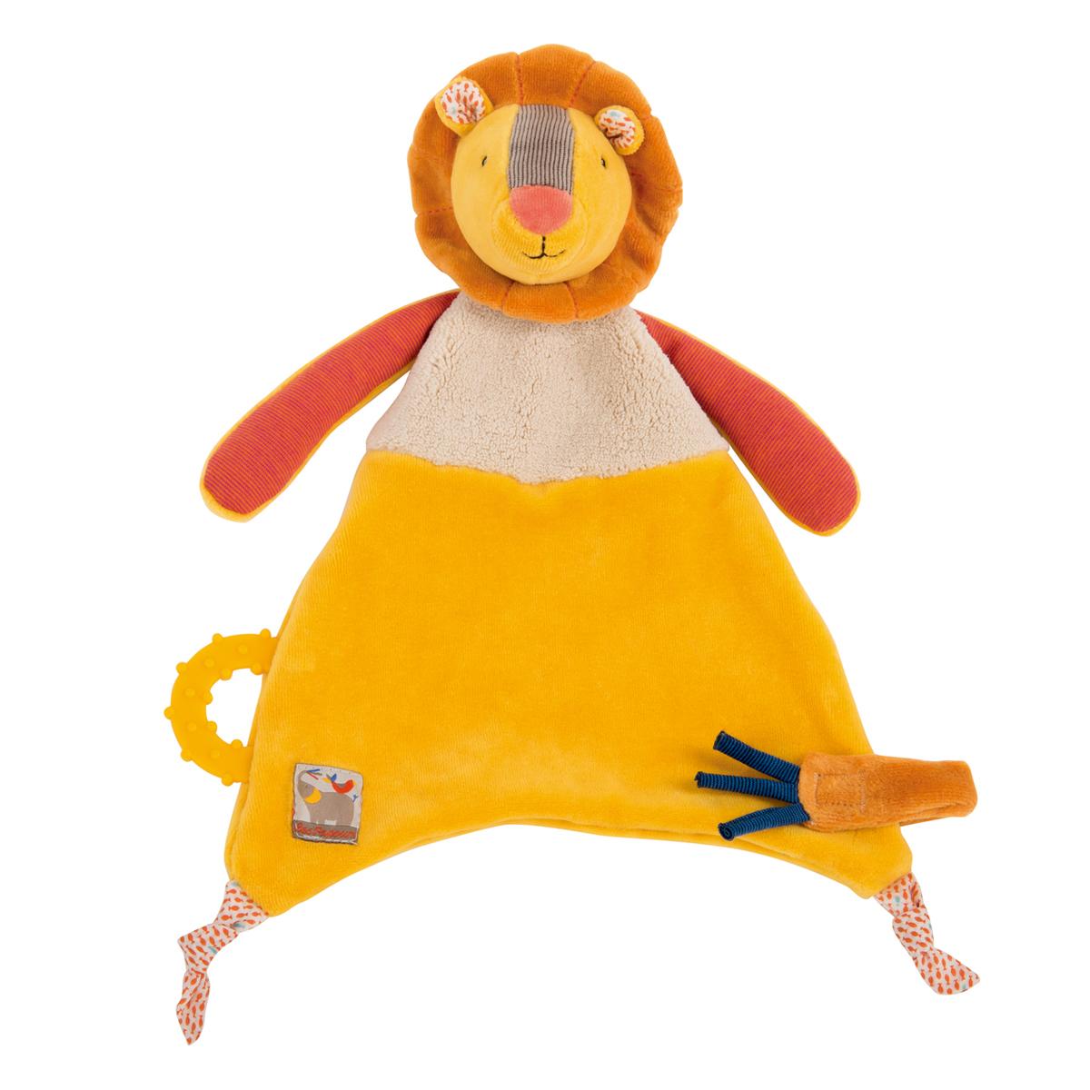「Les Papoum」ライオンのおしゃぶりタオル