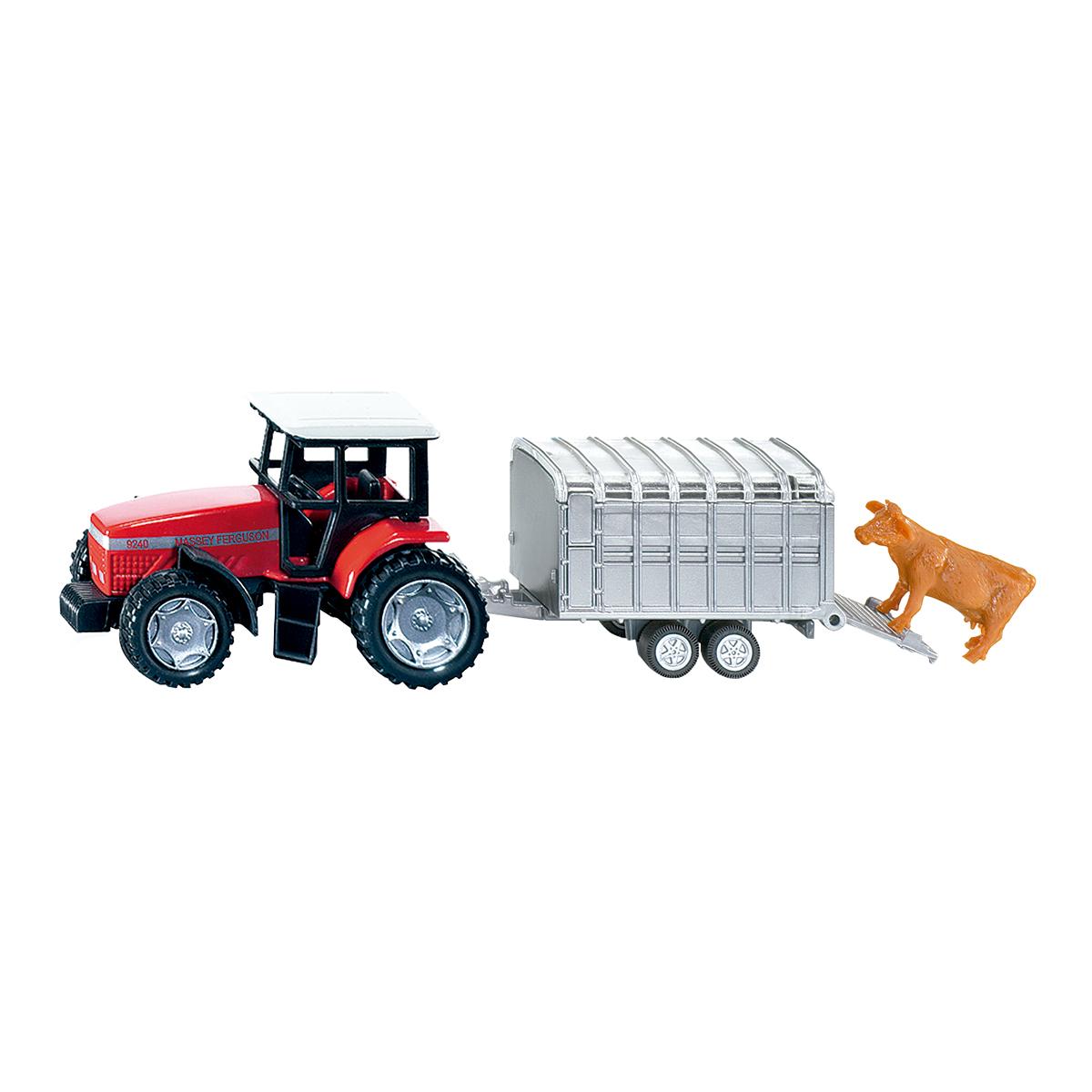 トラクター ストックトレーラー&牛フィギア付(ジク・SIKU)