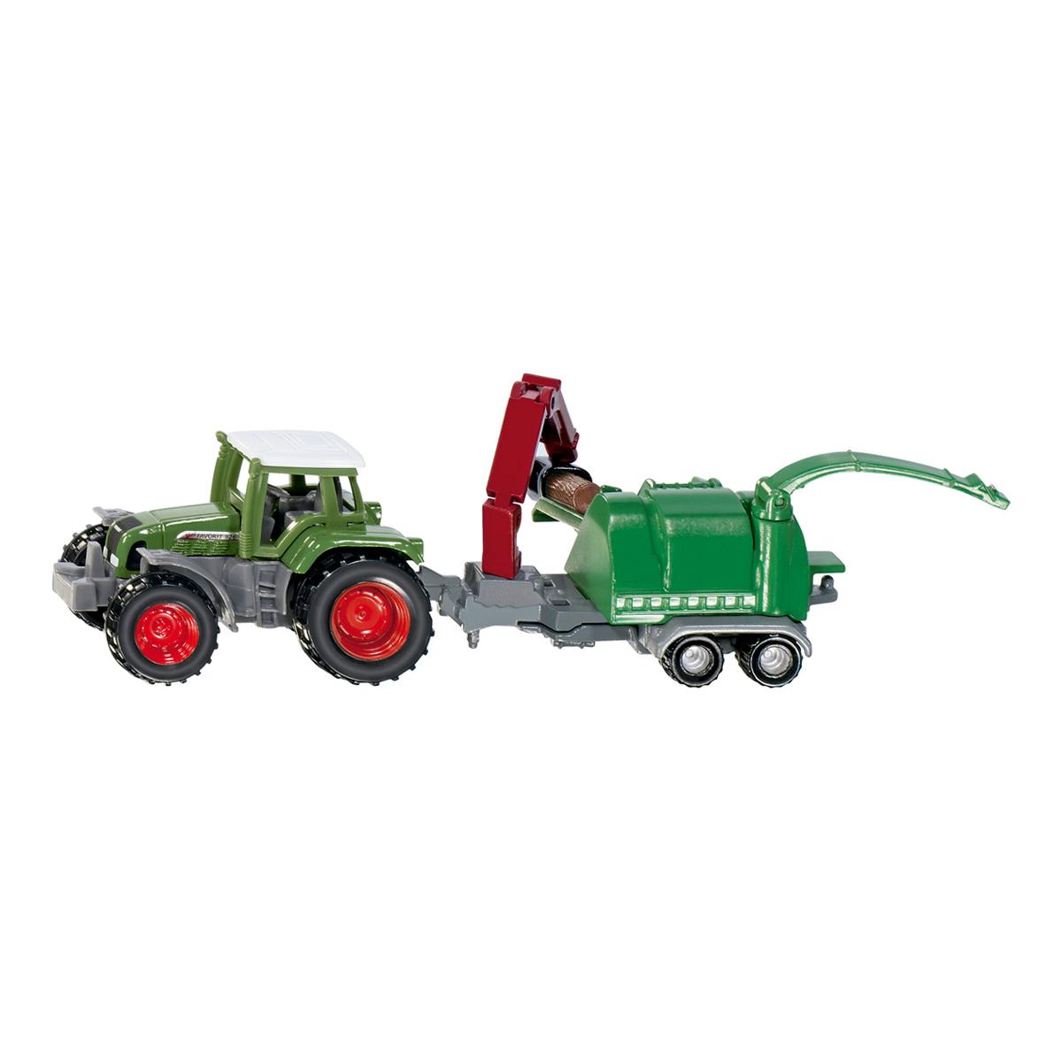 Fendt トラクター 木材粉砕機付き (ジク・SIKU)