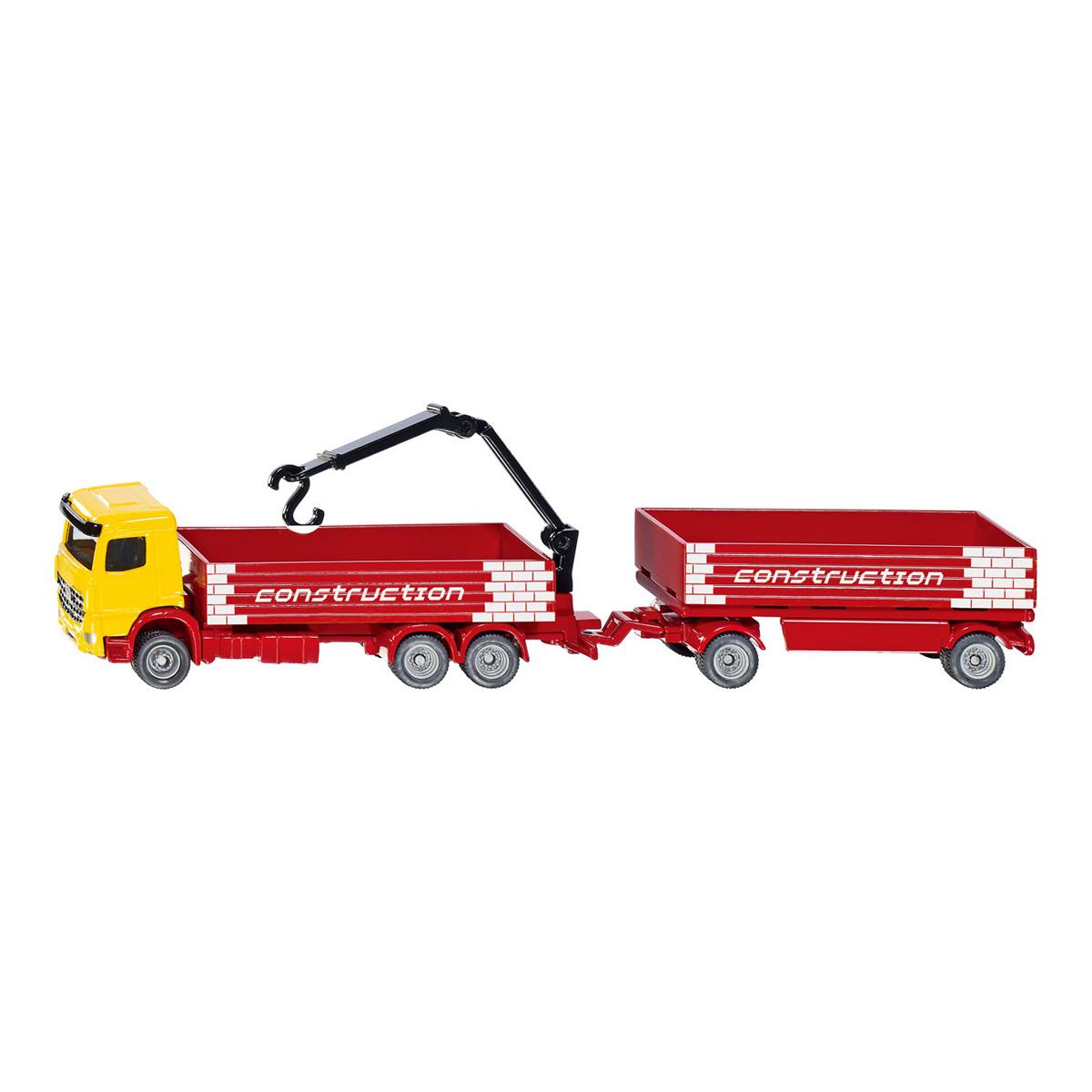 建材運搬用トラック トレーラー付き (ジク・SIKU)1:87