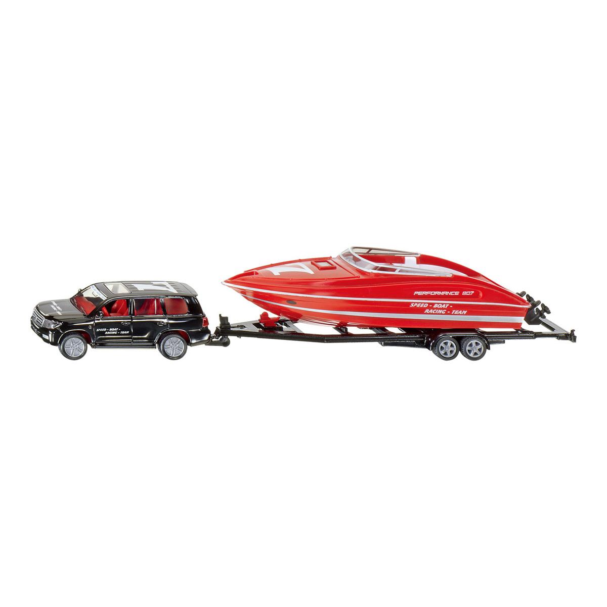 トヨタランドクルーザー モーターボート積載トレーラー付 1/55(ジク・SIKU)
