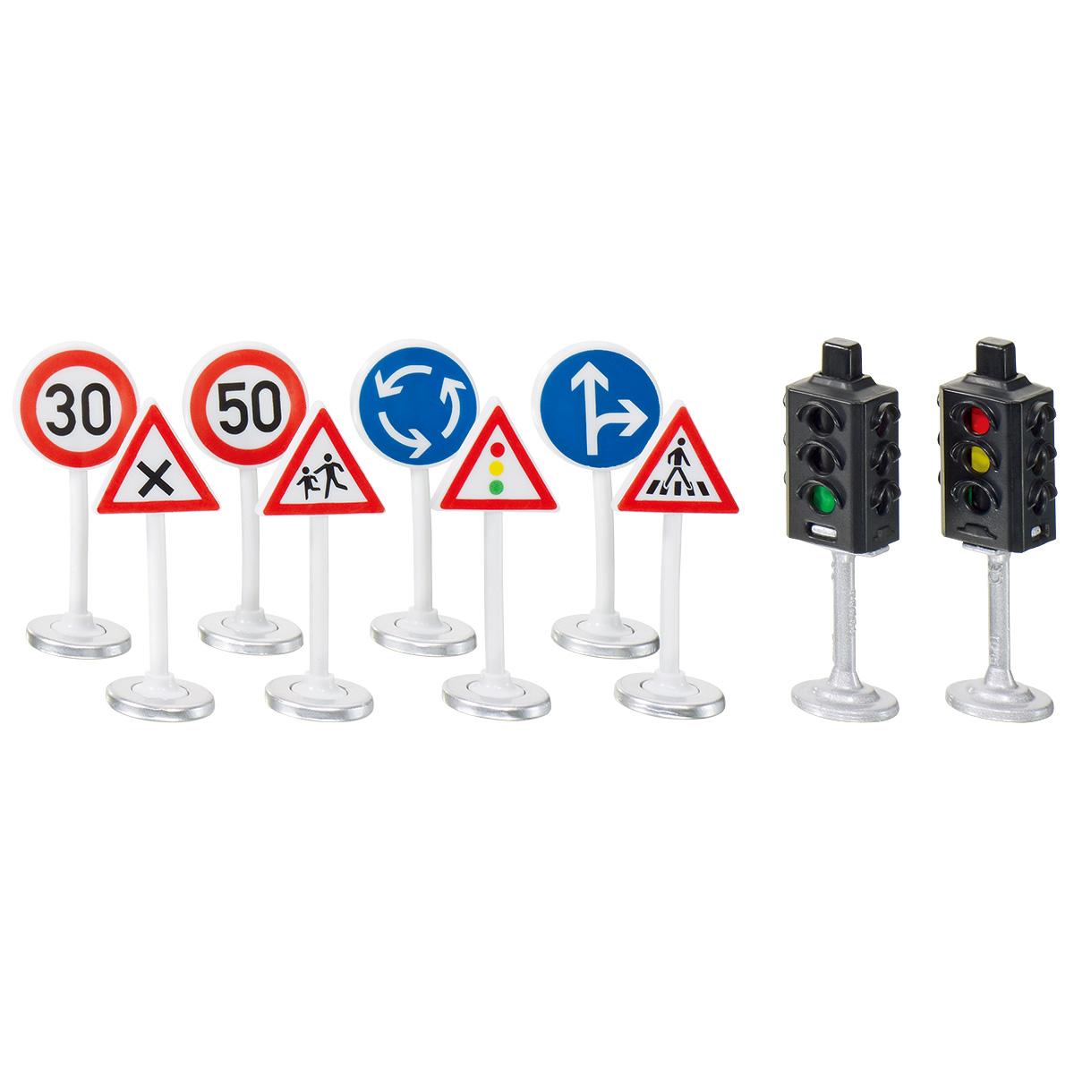 アクセサリー信号機・道路標識セット ジクワールド用(ジク・SIKU)