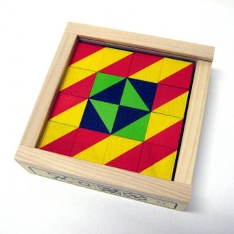 キュービックパズル カラーモザイク 16ピース