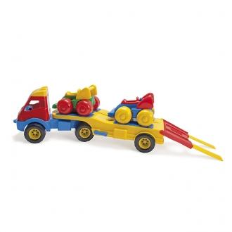 トレーラートラック レーシングカー付