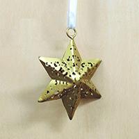 メタルオーナメント 金の星 7.5cm