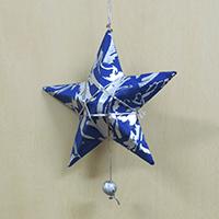 ペーパーオーナメント 青の星 9cm