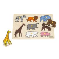 【4月中旬頃再入荷予定】ピックアップパズル 動物園