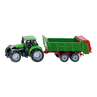 Tractor with universal manure spreader(ジク・SIKU)