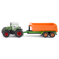Fendt with hooklift trailer and carriage
