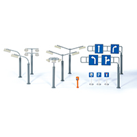 SIKU WORLD用アクセサリー 街灯・道路標識セット (ジク・SIKU)