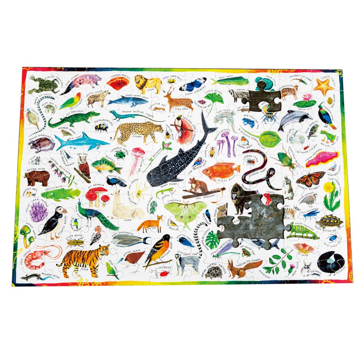 100ピースパズル 色とりどりの生物
