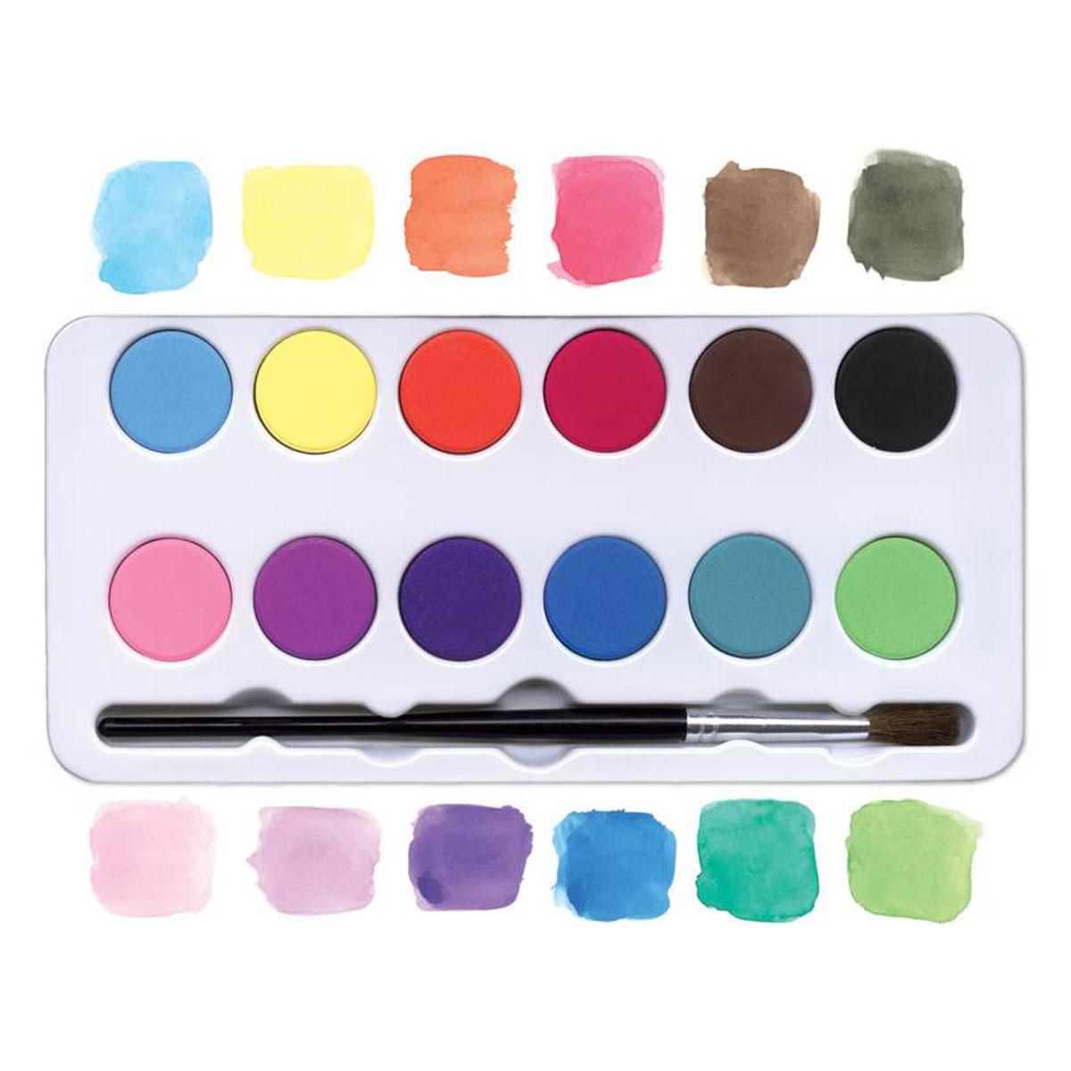 12色水彩パレット 海の中
