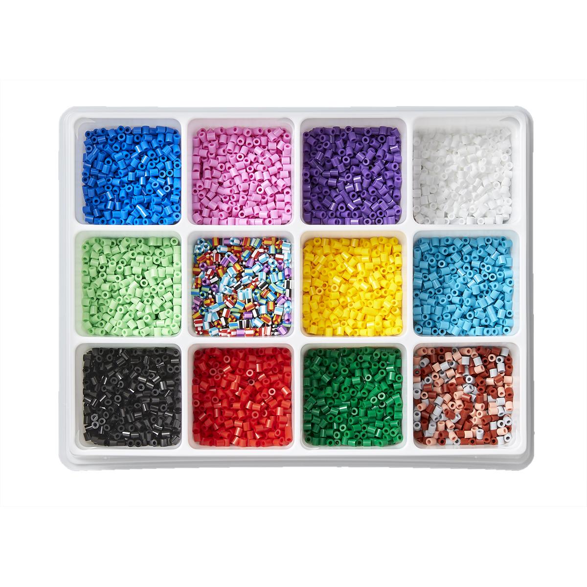 【再入荷時期未定】ハマビーズ 色分けできる!12色の基本ビーズボックス