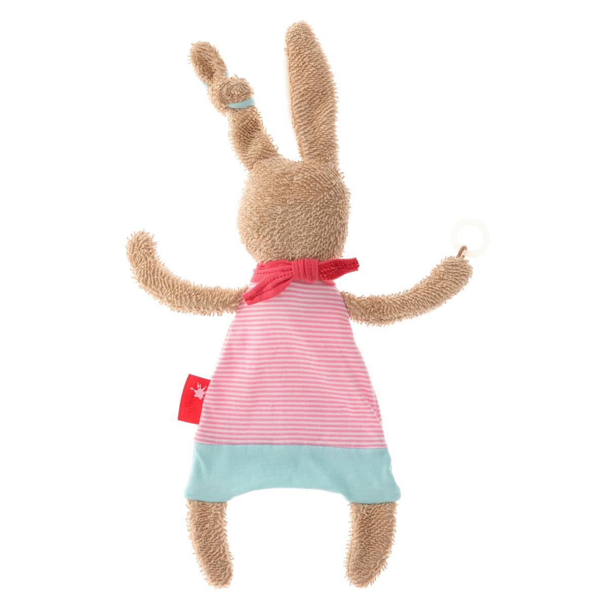 うさぎのおしゃぶりタオル(ピンク)