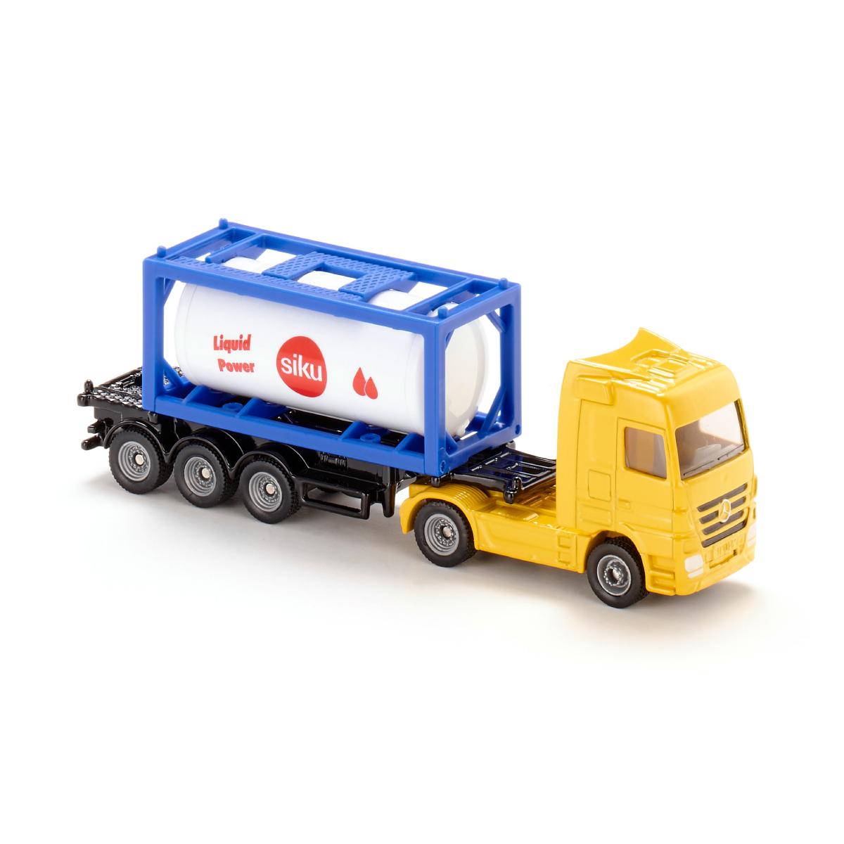 【在庫限り】タンクコンテナ付きトラック 1:87(ジク・SIKU)
