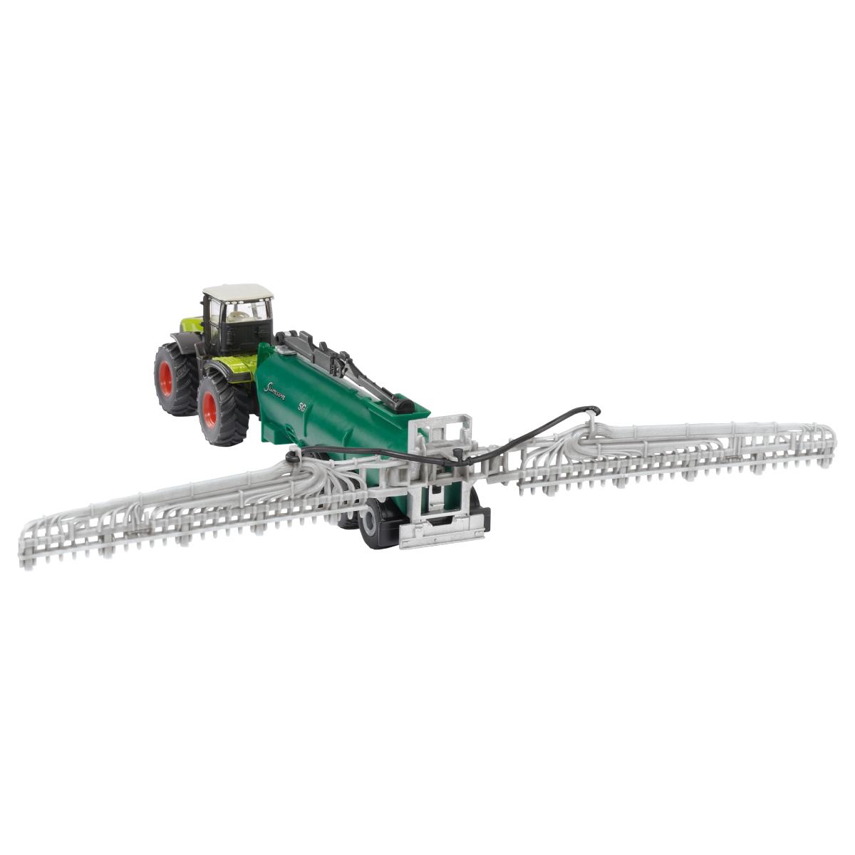 Claas ゼリオン トラクター バキュームタンカー付き 1:87(ジク・SIKU)