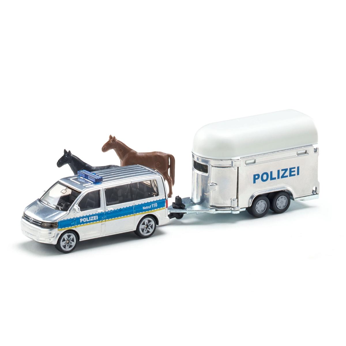 VW T5 ポリスバン ホーストレーラー付き 1/55(ジク・SIKU)