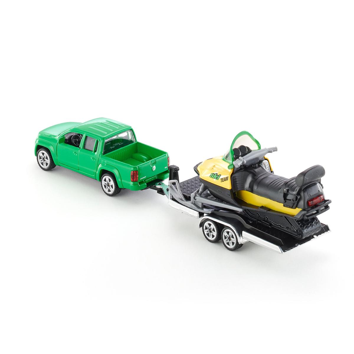 VW アマロック スノーモービルトレーラー付き 1:55(ジク・SIKU)