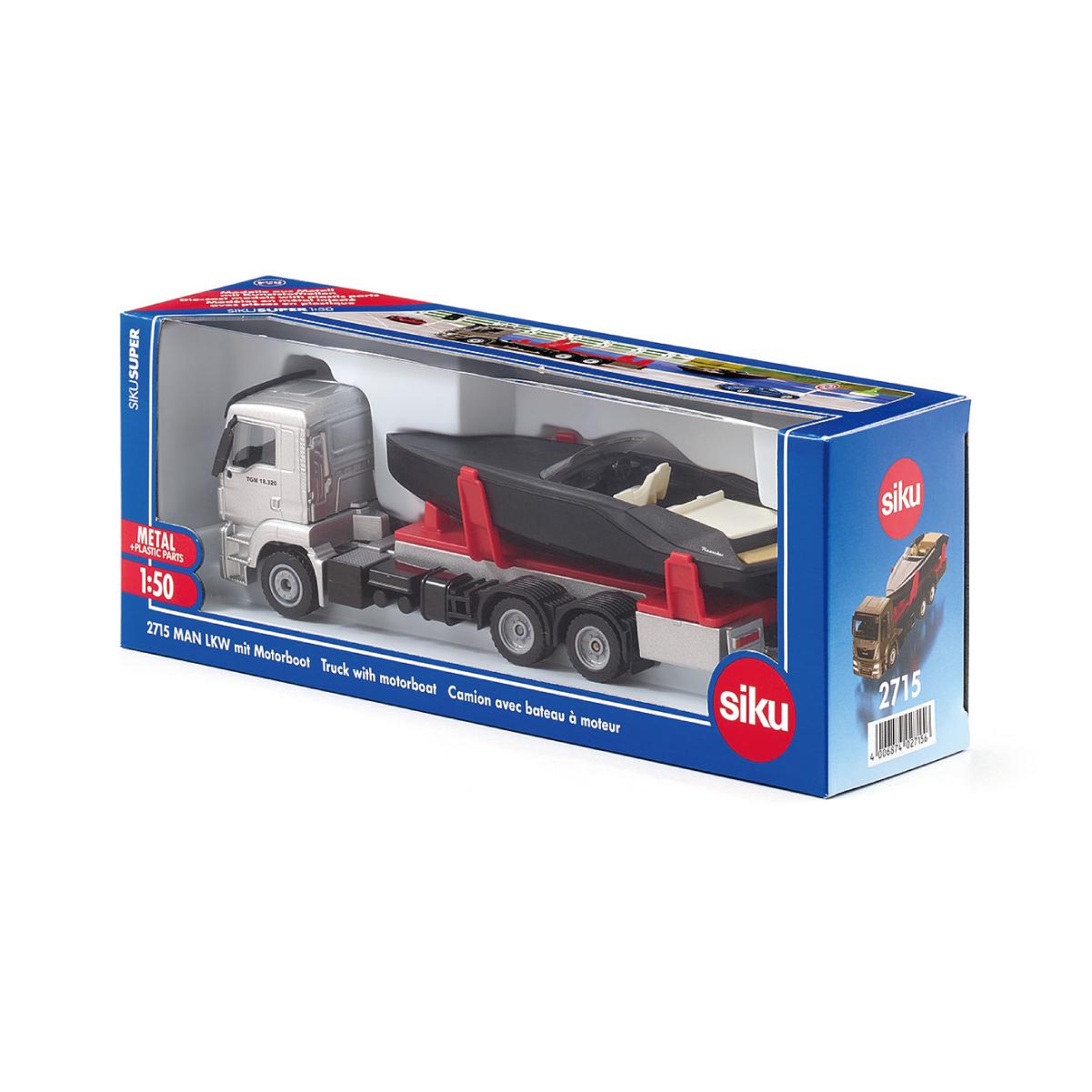 MAN モーターボート付きトラック 1:50(ジク・SIKU)