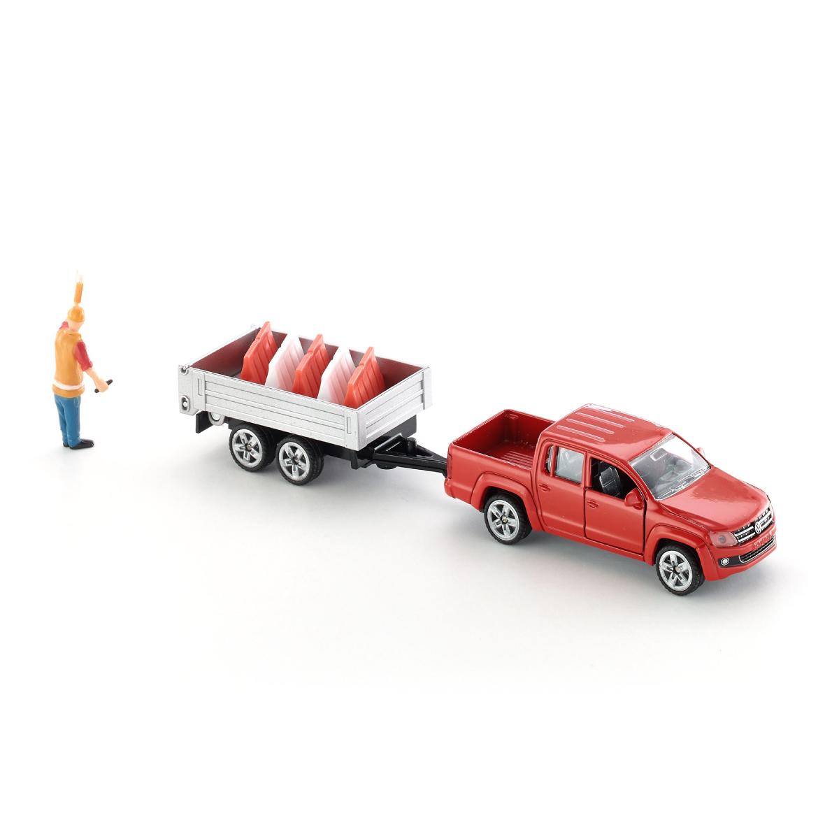 交通整理用コーン付きティッピングトレーラー 1:55(ジク・SIKU)