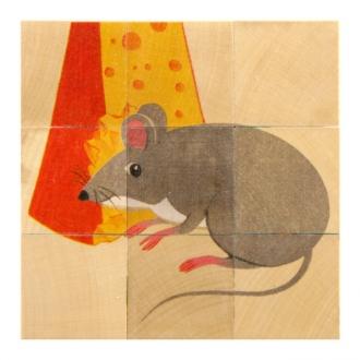 キューブパズル 9ピース 動物