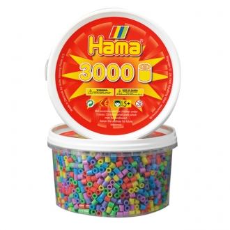 【在庫限り】ハマビーズ 丸ボックス パステル(3000ピース)