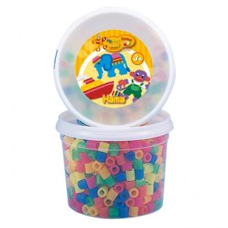 ハマビーズ Jr. ミックスカラーボックス 透明色(600ピース)