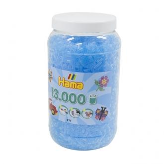ハマビーズ ボトル 13000pcs クリアライトブルー