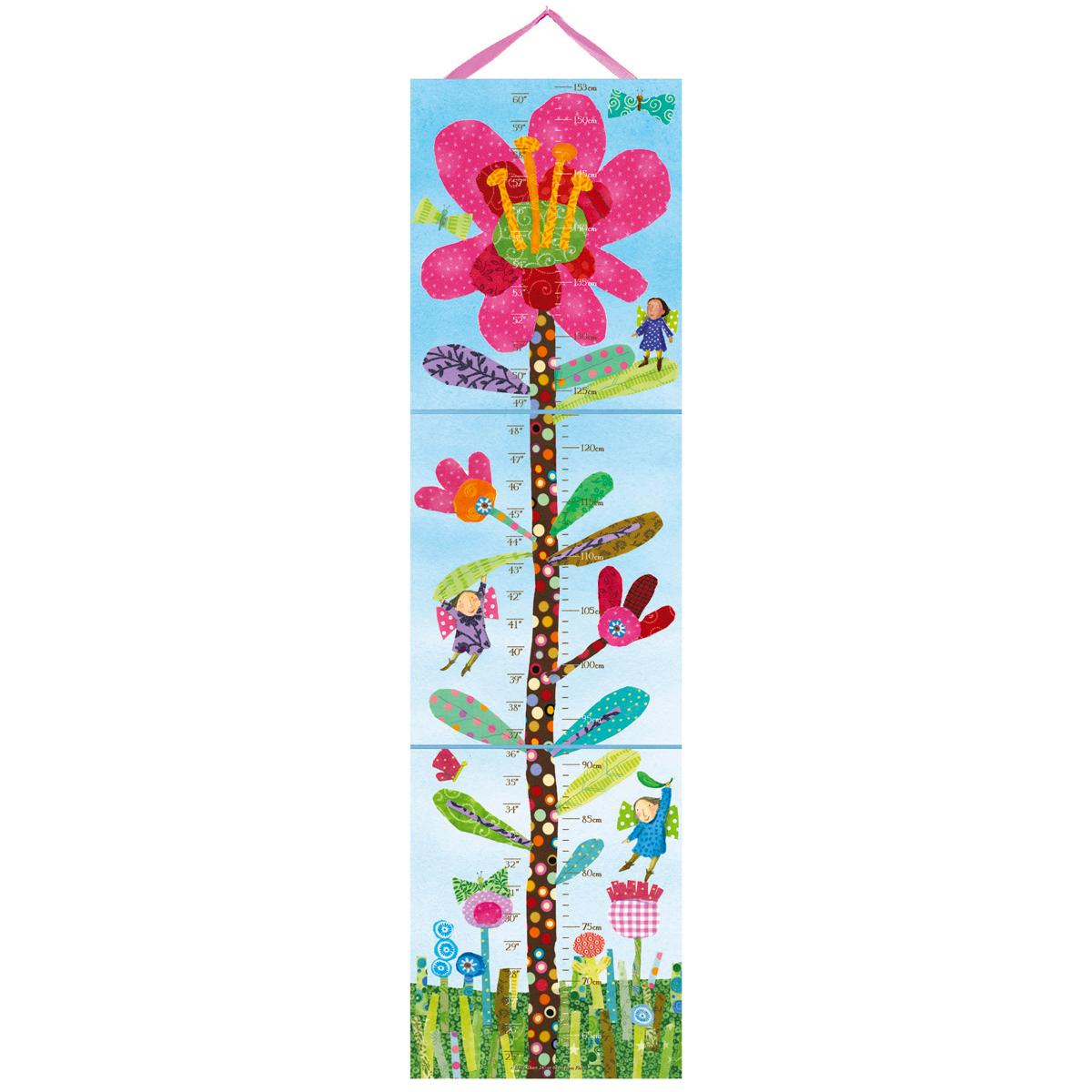 身長計 ピンクのお花