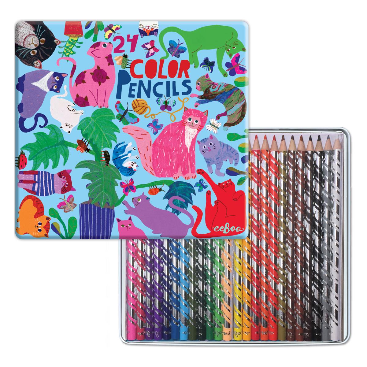 色鉛筆 気まぐれなネコたち (24色)