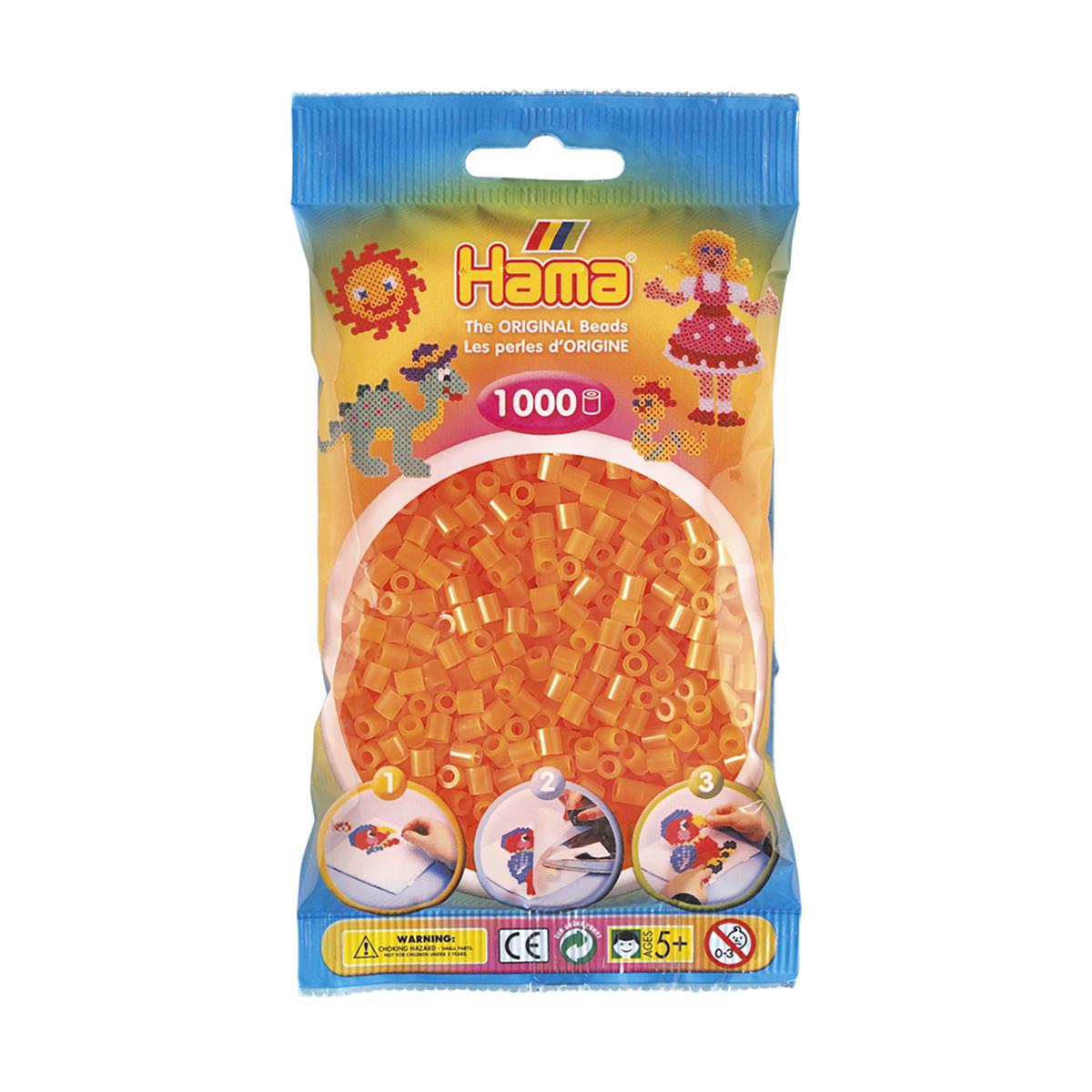 ハマビーズ 蛍光クリアオレンジ(単色)