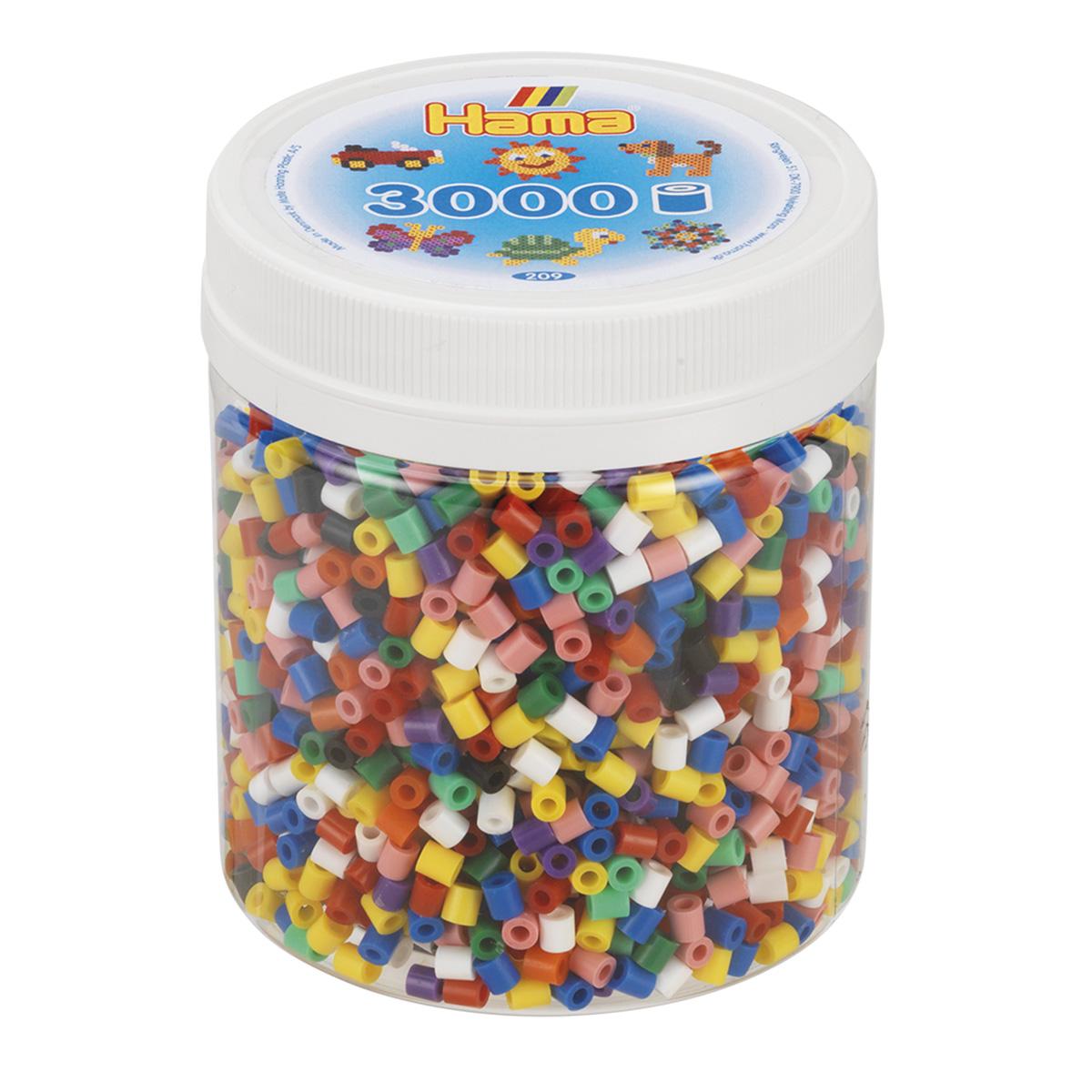 ハマビーズ ボトル 3000pcs mix基本10色