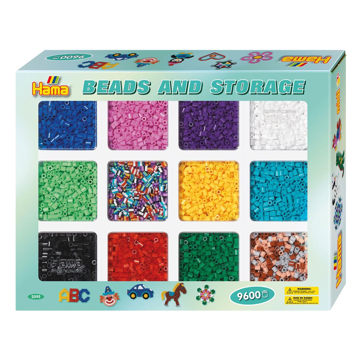 ハマビーズ 色分けできる!12色の基本ビーズボックス