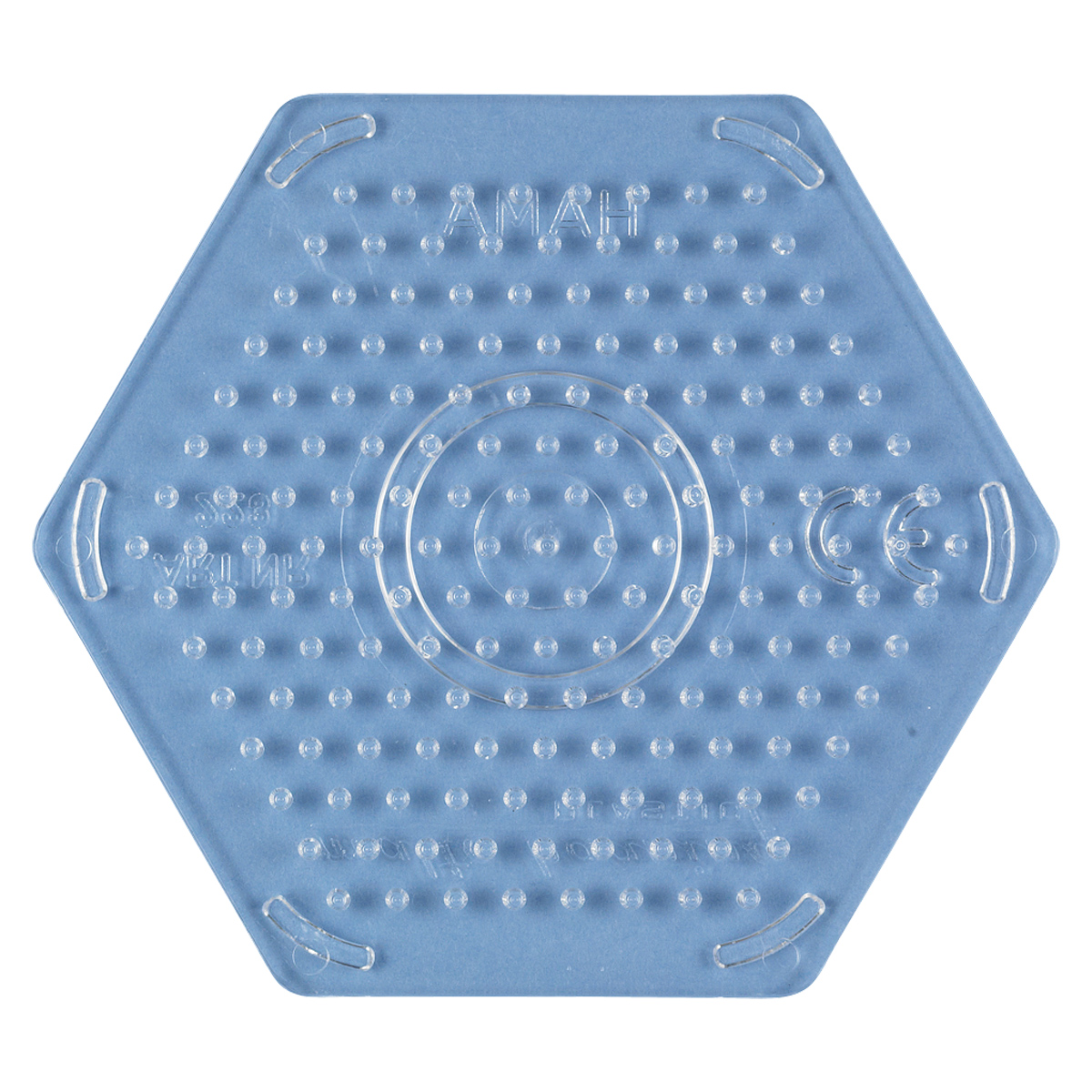 ハマビーズ ボードS 六角形(透明)