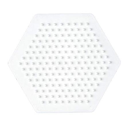 ハマビーズ ボードS 六角形(白)