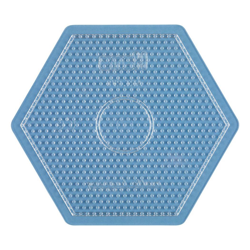 ハマビーズ ボードL 六角形(透明)