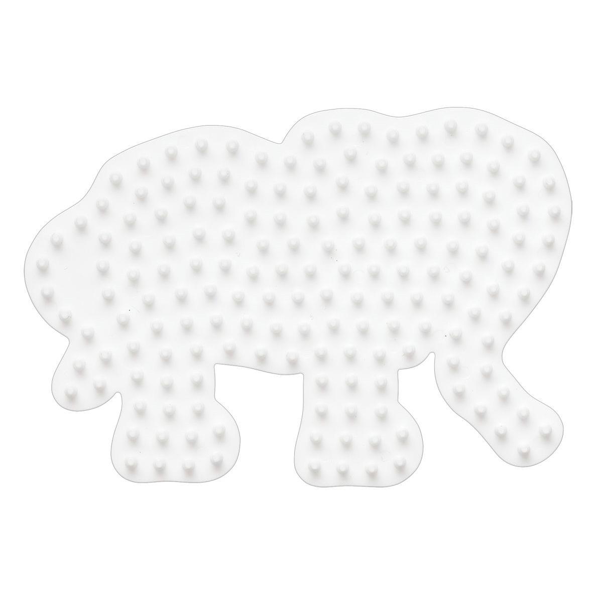 ハマビーズ ボード 小さなゾウ(白)