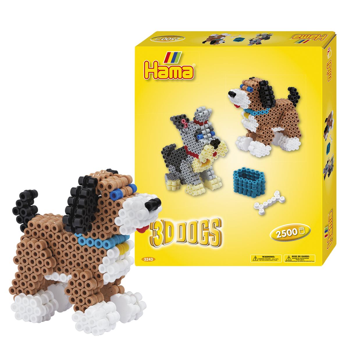 ハマビーズ 3Dセット・2匹のイヌ