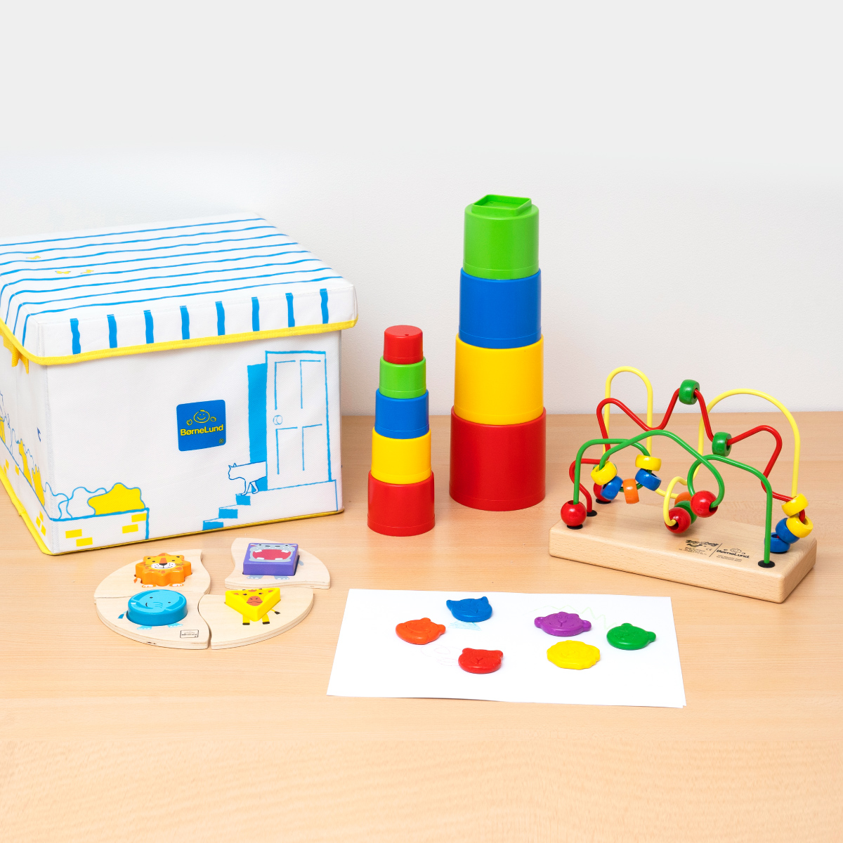 【20%OFF】1歳からの知育遊びセット【お片付けできる収納ボックス付き】