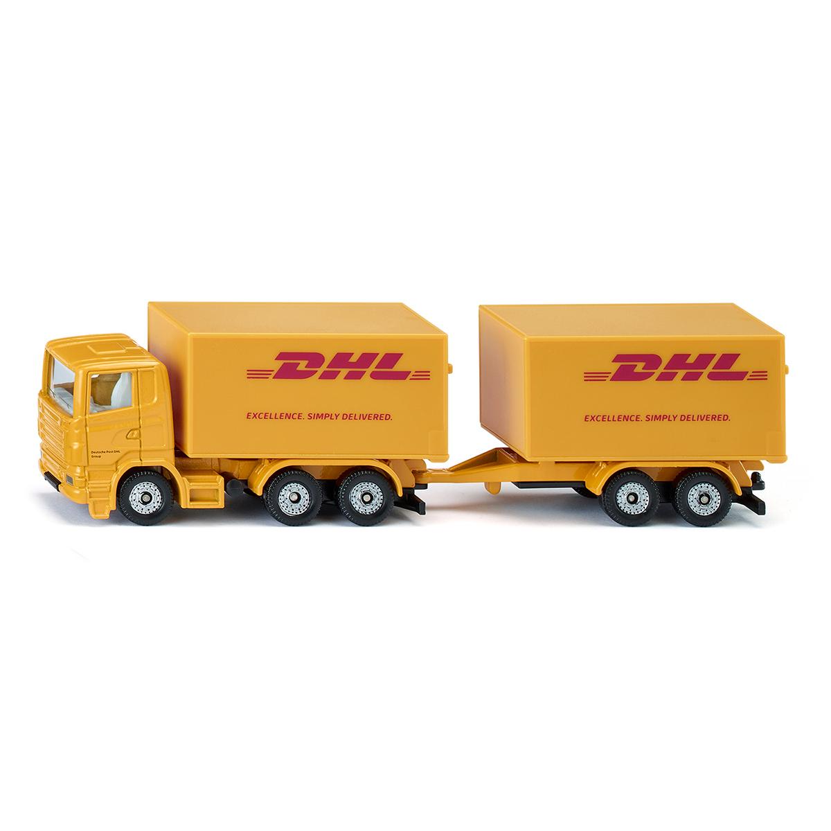 DHLトラック トレーラー付き