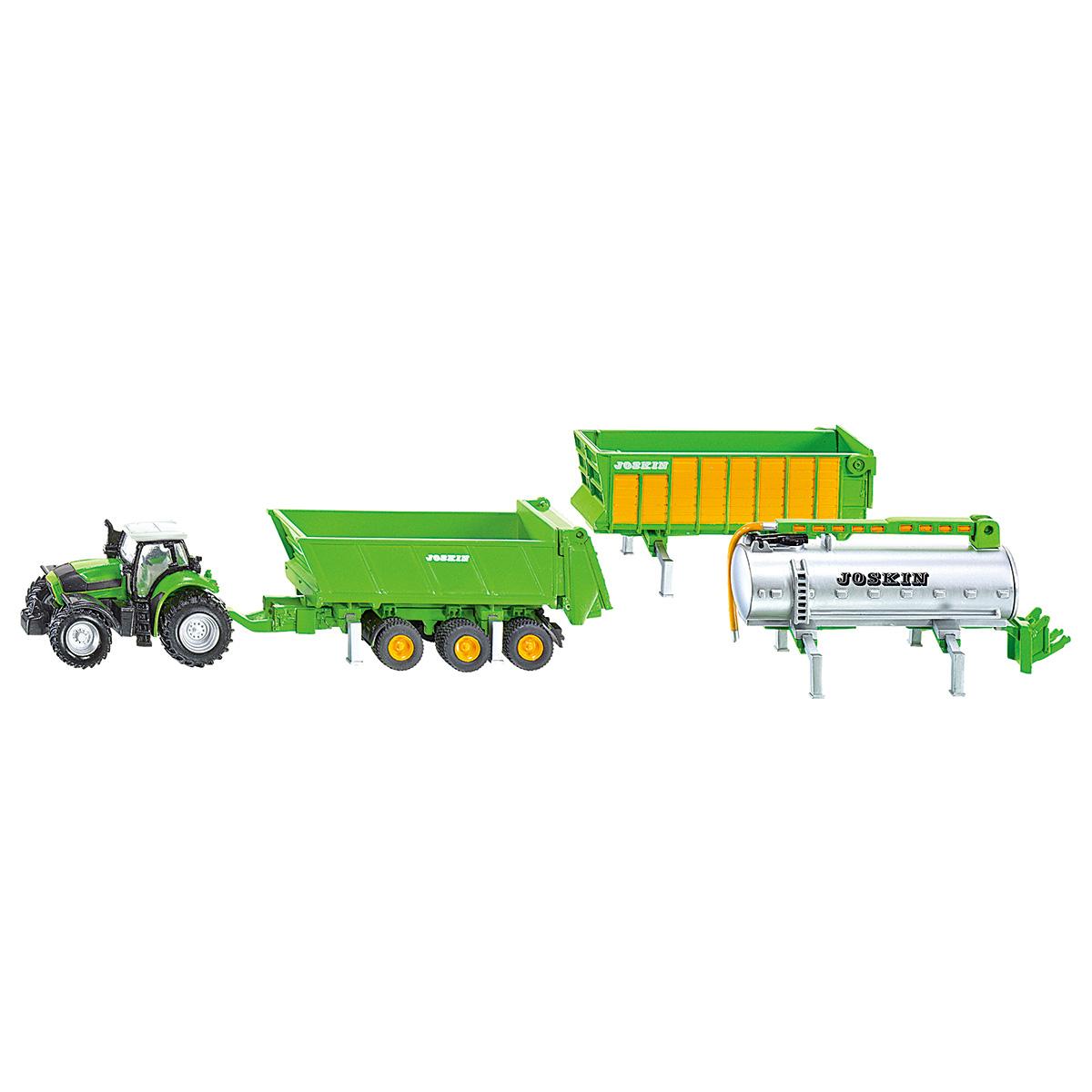 DEUTZ−FAHR トラクター&トレーラーセット 1:87(ジク・SIKU)
