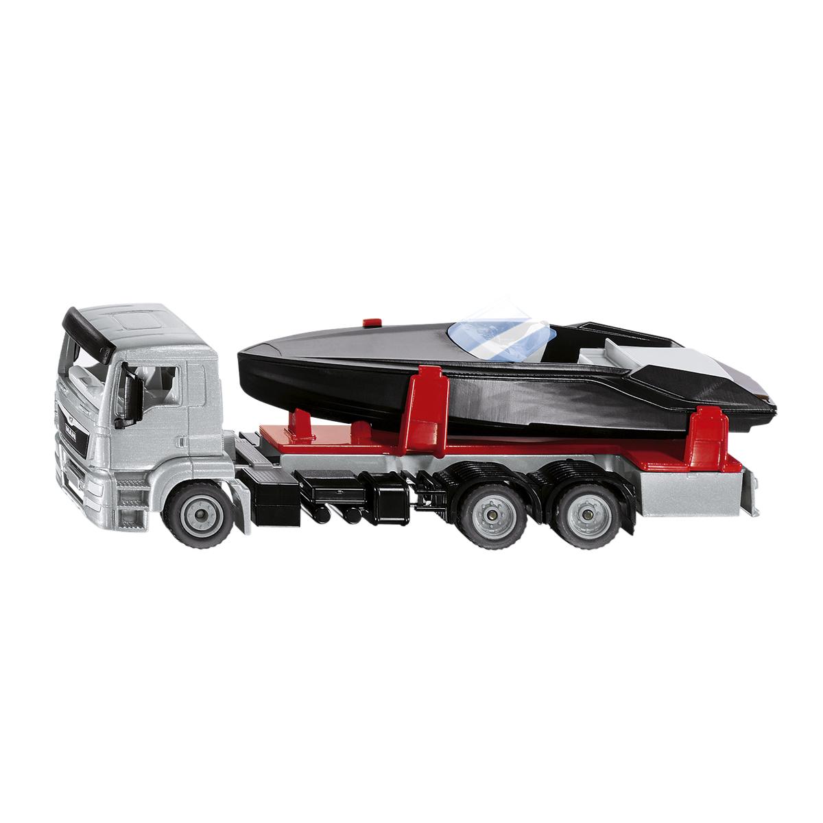 MAN モーターボート付きトラック