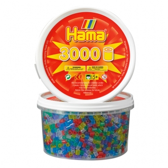 【在庫限り】ハマビーズ 丸ボックス ラメ(3000ピース)